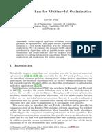 Metaheuristic Optimization