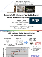 APEC, Impact of LED lighting on Worldwide Energy Saving and Role of Optical Metrology