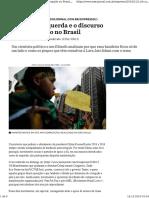 a Crise Da Esquerda e o Discurso Anticorrupção No Brasil