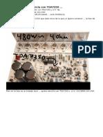 Amplificador de Potencia Con TDA7250
