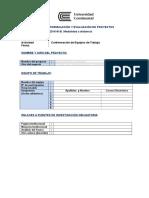 Ficha de Inscripcion Equipos de Trabajo 2016-III