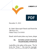 Linda Ellis Copyright - Extortion Letter -  St. John's Episcopal Church and Parish Day School.pdf