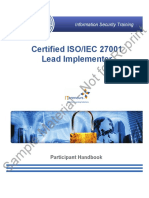 Certified ISO 27001 Lead Implementer Participant Manual