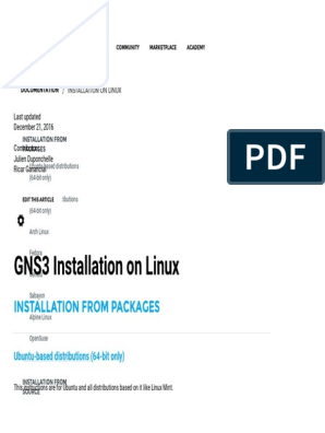 Installation on Linux - GNS3 | Fedora (Operating System) | Linux