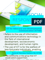 Ict and Social Responsibility