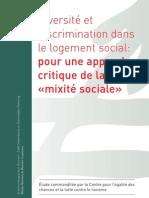 Logement Belgique - Rapport critique mixité sociale en Belgique - Juin 2010 - Centre pour l'égalité des Chances