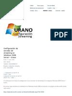 Configuración de Servidor de Streaming en Windows 2008 Server – Urano _ Proyecto SRI