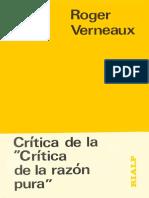 Critica de La Critica de La Razon Pura