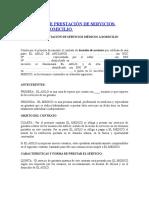 Contrato de Prestación de Servicios Medicos a Domicilio