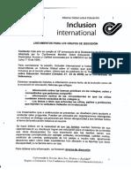 Informe global sobre inclusión internacional