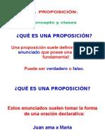 La Proposició Concepto y Clases
