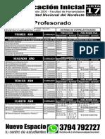 Profesorado en Educación Inicial - Plan de Estudios 2000
