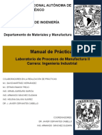 Manual de Lab. de Procesos de Manufactura II