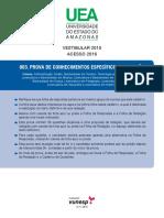 UEA 2015 - Prova - Conhecimentos Especificos Humanas DIREITO
