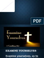 Examine Yourselves