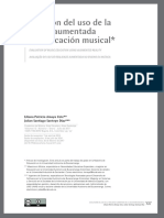 Evaluación del uso de la realidad aumentada en la educación musical