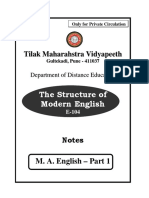 E-104 Structure of Modern English