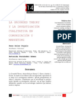Icono14. A8/V2. La Grounded Theory y la investigación cualitativa en comunicación y marketing
