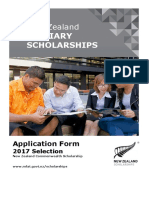 New Zealand Commonwealth Scholarship Application Form 2017