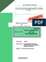 M10 Notions Et Concepts de La Topographie AC CTTP-BTP-CTTP
