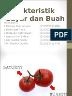 Karakteristik Sayur Dan Buah