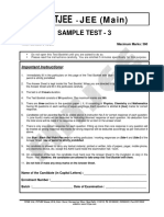 Jee Main Sample Test 3 With Ans Key