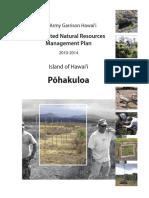 Pohakuloa INRMP 2012-2014