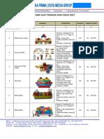 BROSUR BOP PAUD 2017 ~ Produk Mainan Edukatif (APE ) PAUD  2017/2018 - Mainan Dan Alat Peraga TK PAUD