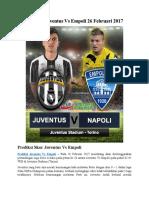 Prediksi Juventus vs Empoli 26 Februari 2017