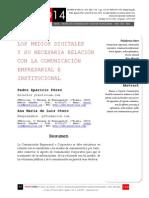 Icono14. A8/V2. Los medios digitales y su necesaria relación con la comunicación empresarial e institucional