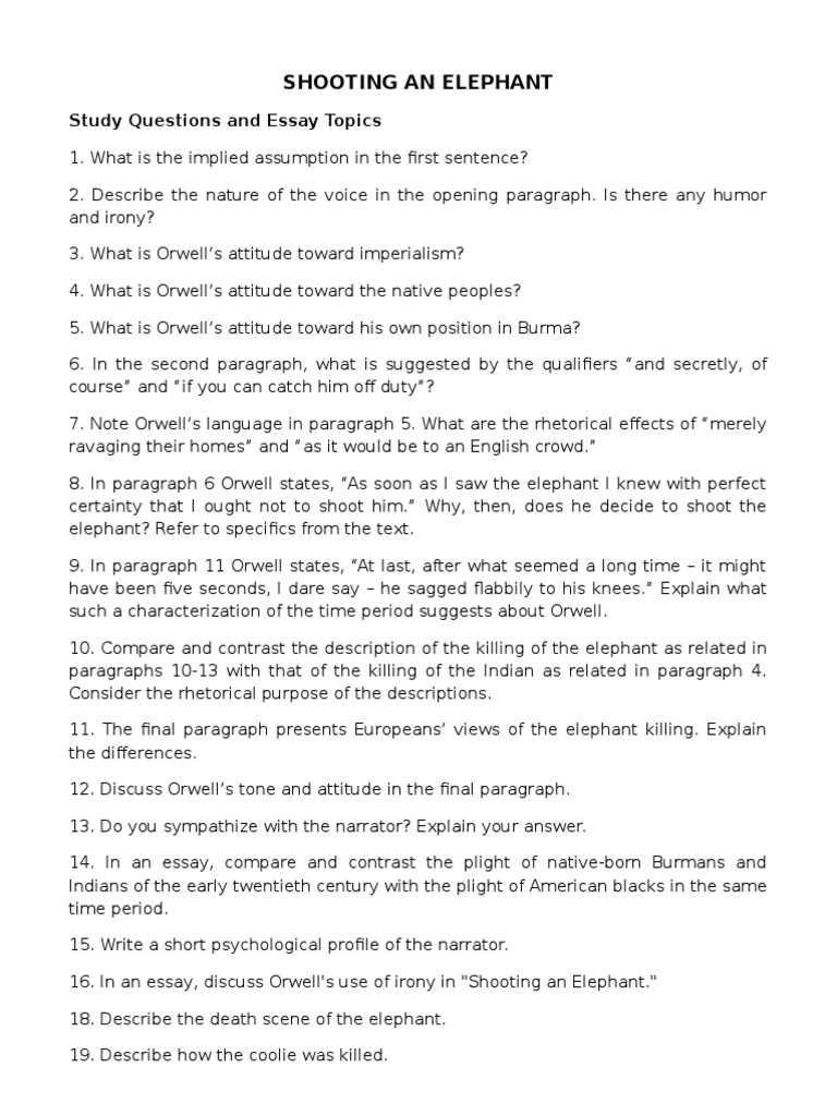 English Literature Essay Questions Orwell Essays Shooting An Elephant Essay Of Newspaper History  V Orwell Essays Yellow Wallpaper Essays also Sample Of English Essay Shooting An Elephant George Orwell Essay Persuasive Essay Meaning  Essay Learning English