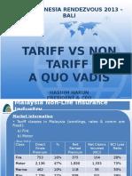 HASHIM HARUN - Tariff vs Non Tariff a Quo Vadis