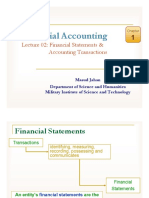 Lec 02- Financial Statements & Accounting Transactions