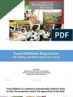 BTP (Food Additives Regulation DFA)