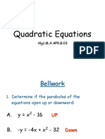 Determining Quadratic Equations