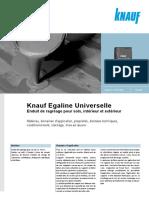 Egalisatie Universeel - Egaline Universelle TECH-PROD XX 10-2009 FR