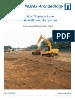 Land Off Popham Lane Watching Brief Report