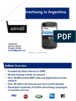 Mobile Advertising in Argentina - Admob