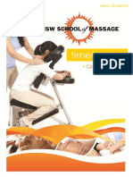 Massage School Timetable