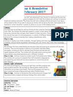 Spring 2 Year 6 Newsletter