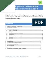 Guide Rapport de Stage