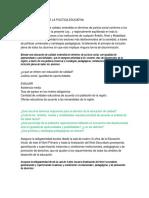 Fines y Objetivos de La Politica Educativa