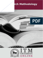 Research Methodology  | ITM Unviersity | MBA | Sem 2