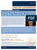 Valerie Jenness Foundations of Leadership Flyer