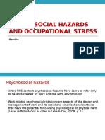 Dasar K3 2014_Psychosocial Hazards and Occupational Stress
