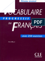 61014843 104212 Vocabulaire Progress if Du Fran Ais Niveau Avanc Corrig s