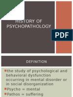 History of Psychopathology