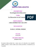Trabajo Final Sociologia de La EducacionJAEL RODRIGUEZ