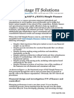 Introduction to SAP S 4 HANA Simple Finance
