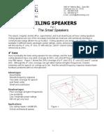 Ceiling Speaker Design